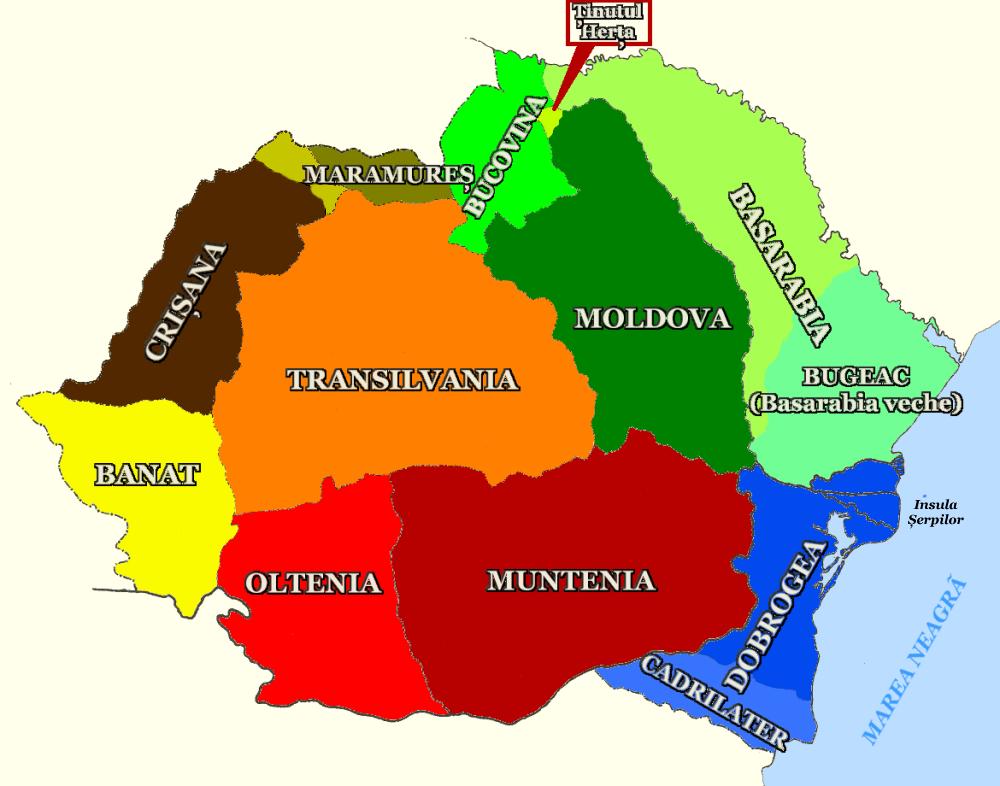 MapRegionsRomania