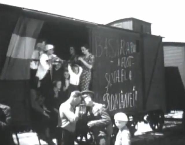 Scris pe vagoanele cu deportati - Basarabia a fost și va fi a României