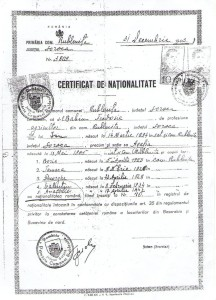 Certificat de nationalitate